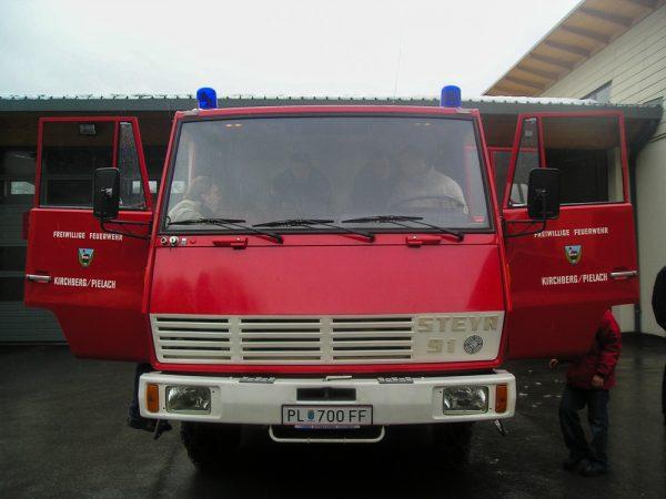 Geschichte-Altes-Tanklöschfahrzeug