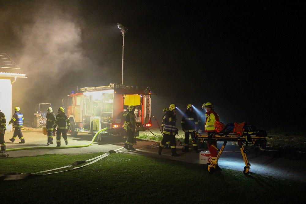 Brandeinsatzübung mit gefährlichen Stoffen