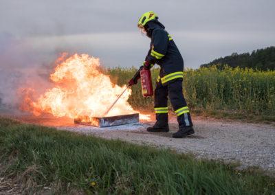 Kleinlöschgeräte-Feuerlöscher-Übung (2)
