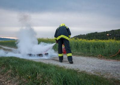 Kleinlöschgeräte-Feuerlöscher-Übung (3)