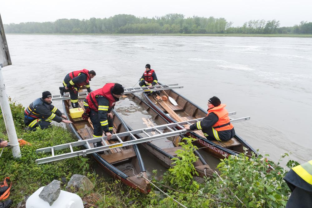 Zillenbergung auf der Donau