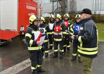 Branddienstleistungsprüfung-Meldung
