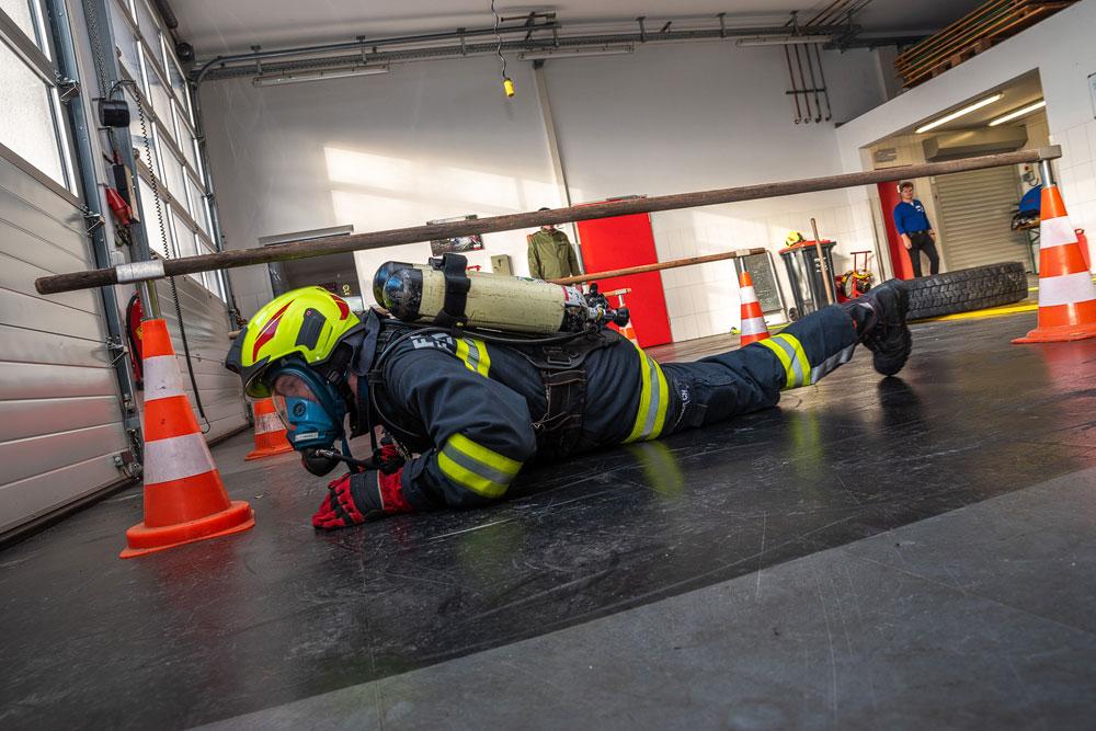 Atemschutzleistungstest in Landshaag