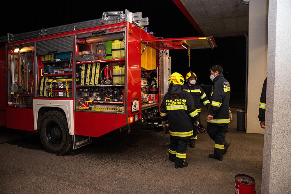 Schulung zur neuen Vorgehensweise bei Brandeinsätzen